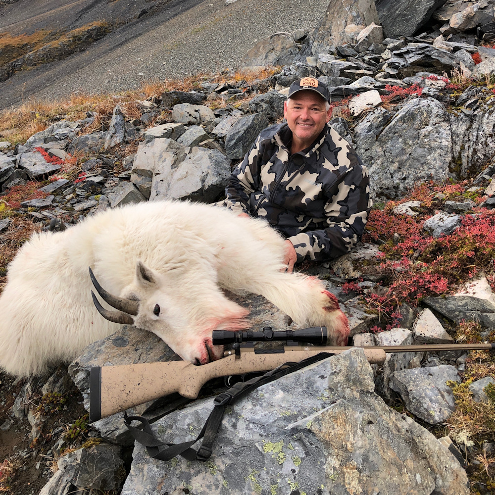 Mountain Goat Taken With Custom Rifle From In Rut Rifles